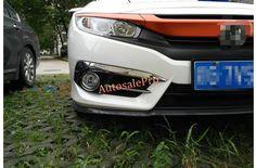For Honda Civic 10th Sedan 2016 2017 ABS Chrome Front Fog Light Eyelid Upper Cover Trim 2pcs #Affiliate