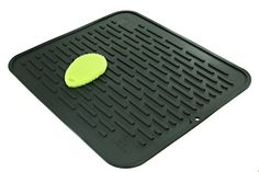 XL Silicone Dish Drying Mat  Counter Protector and Stay Clean Scrubby  Hygienic Antibacterial Dishwasher Safe  Wide Ridges Easy To Wipe Clean  Heat Resistant 450 178 x 158  Black ** You can get more details by clicking on the image.Note:It is affiliate link to Amazon.