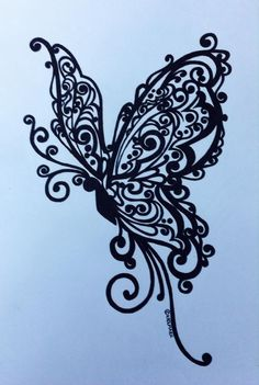 Butterfly tattoo - Famous Last Words Lace Butterfly Tattoo, Daffodil Tattoo, Butterfly Eyes, Butterfly Drawing, Butterfly Tattoo Designs, Dragonfly Tattoo, Henna Tattoo Designs, Flower Tattoos, Butterflies