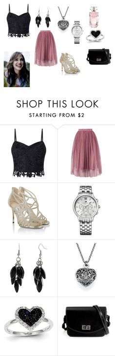 Merope Black - Unbreakable Vow (Family Dinner) by madhura-datar on Polyvore featuring Lipsy, Jimmy Choo, Tommy Hilfiger, Kevin Jewelers, Alexa Starr and Elie Saab