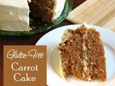 My family absolutely loves this gluten-free carrot cake. It is moist and flavorful, and it is the most requested birthday cake in my family. Gluten Free Carrot Cake, Gluten Free Deserts, Gluten Free Sweets, Gluten Free Cakes, Foods With Gluten, Gluten Free Cooking, Vegan Gluten Free, Dairy Free, Gf Recipes