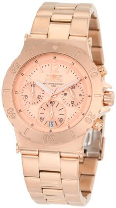 Invicta Women's 1277 II Collection Chronograph 18K Rose Gold Ion-Plated Stainless Steel Watch Invicta,http://www.amazon.com/dp/B0058ZZRNM/ref=cm_sw_r_pi_dp_fNX5sb09KQ3PTEJ3
