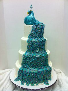 This was my verson of several cake inspirations off of Cake Central! Thanks to all those with the great ideas! There were so many I can't remember all the great cakers names!  -- Meghan