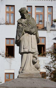 St. John of Nepomuc in the Old Town Square in Bielsko-Biala, Poland