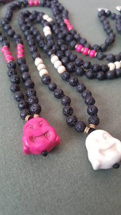 Meditation Necklace, Jewelry by AkashaMalas on Etsy Buddha Meditation, Buddha Head, Spiritual Jewelry, Wooden Beads, Gemstones, Gifts, Etsy, Suitcase, Presents