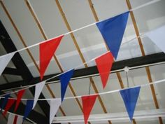 image of Red White and Blue Fabric bunting £10.50