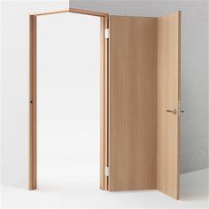 Nendo's door concepts include designs for wheelchair users – Door Design Architecture Details, Interior Architecture, Interior And Exterior, Corner Door, Interior Decorating, Interior Design, Dark Interiors, Deco Design, Wooden Doors