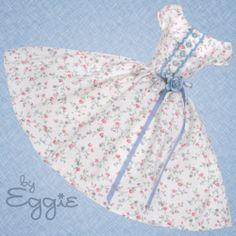 Sweet Tea - Vintage Barbie Doll Dress Reproduction Repro Barbie Clothes