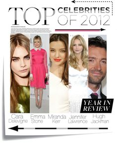 """""""Top Celebrity's Of 2012!!!"""" by abbeygirl223 ❤ liked on Polyvore"""