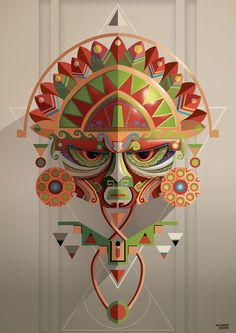 Cool series of illustrations by Juanco, a versatile artist and designer based in Lima, Peru. More illustrations via Behance Arte Tribal, Tribal Art, Geometric Art, Art Péruvien, Peruvian Art, Inka, Art Premier, Art Et Illustration, Art Graphique