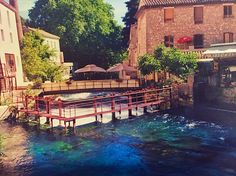 """See 363 photos and 13 tips from 1772 visitors to Fontaine-de-Vaucluse. """"Visit the source of the Sorgue river, with its amazing green colors, at the. Amazing Greens, South Of France, Green Colors, Four Square, River, Colors Of Green, Rivers"""
