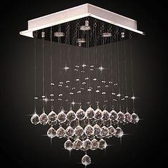 Lustres De Sala, Modern LED Crystal Ceiling Lamp Light With 5 Lights For Living Room Lustre De Cristal Free Shipping