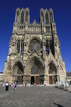 Reims, cattedrale di Notre-Dame - esterno.