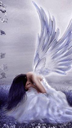 Bello Ángel llora por la naturaleza y la humanidad que pronto perecerá debido a la autodestrucción de la humanidad