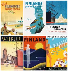 vintage finnish postcards