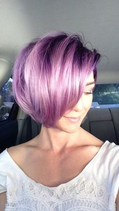 2018 New Trendy Bob Hairstyles – 2018 Hairstyles – Women's Hair - Best New Hair Styles Bob Hairstyles 2018, Pretty Hairstyles, Scene Hairstyles, Bob Haircuts, Updo Hairstyle, Bride Hairstyles, Lilac Hair, Violet Hair, Gray Hair