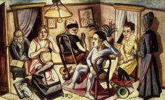 Max Beckmann (German, 1884-1950), Before the Masked Ball, 1922. Oil on canvas, 80.4 x 130.5 cm.