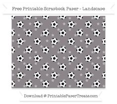Landscape Taupe Grey Star Small  Soccer Ball Pattern Paper