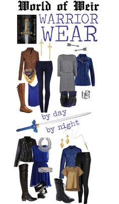 Outfits inspired by The Warrior Heir by Cinda Williams Chima