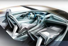 Lamborghini Arquero Interior Design Sketch
