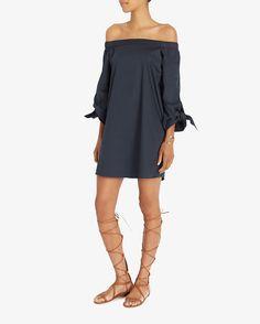 Tibi EXCLUSIVE Tie Off The Shoulder Dress | Shop IntermixOnline.com