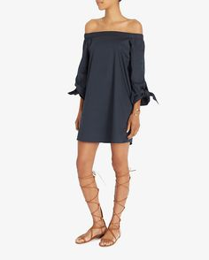 Only at INTERMIX: Tibi EXCLUSIVE Tie Off The Shoulder Dress.