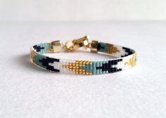 Beaded Loom Bracelet / Stacking Bracelet by WhiteLiesJewelry