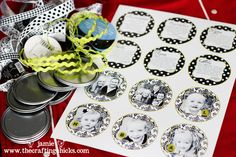 upcycled juice lids MDS and punches Halloween Tree Ideas