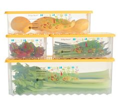 These Fridge smarts are so smart they show you in pictures how much air each fruit or veggie needs! Adjust the vents according to labels on container...I call it Tupperware for dummies!