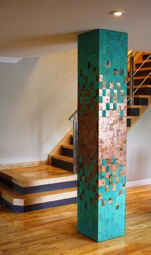 Stoney Creek Custom Copper Column contemporary-entry