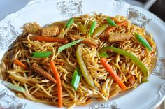 Chinese Noodles | Stir Fry Noodles. with General Tsous chicken--great!