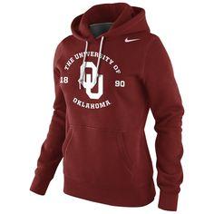 Nike Oklahoma Sooners Womens School Stamp Pullover Hoodie - Crimson