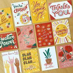 Great collection of cards Arte Shop, Typography Design, Branding Design, Stationery Design, Graphic Design Illustration, Illustration Art, Postcard Design, Posca, Grafik Design