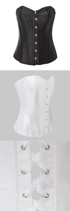 Corset bustier vintage sexy pure strapless shaping satin overbust corset with g-string #bustier #corset #noir #et #blanc #bustier #corset #philippines #corset #amp; #bustiers #corset #bustier #bra