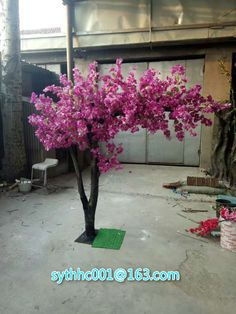 Shenyang Tianshun Hongcheng trading co. Blossom Tree Wedding, Blossom Trees, Artificial Cherry Blossom Tree, Ganapati Decoration, Table Flowers, 3d Wall, Artificial Plants, Flower Crown, Wall Design