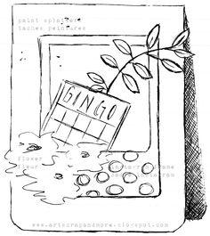 art scrap & more: a sketch & a card - PTI stamps & dies