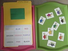 Rockabye Butterfly: Terrific T! file folder game. matching turtles to the right color