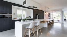 If anywhere in the home needs durable flooring, it's the kitchen with its constant foot traffic. Here are some of the top durable kitchen flooring options. Concrete Kitchen, Kitchen Tiles, Concrete Floor, Kitchen Wood, Kitchen Flooring Options, Mid Century Modern Kitchen, Bespoke Kitchens, Modern Kitchens, Contemporary Kitchen Design