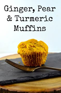 May I Have That Recipe   Ginger, Pear and Turmeric Muffins   http://mayihavethatrecipe.com