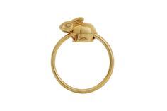 Silver Yellow gold gilded Riverine Rabbit slider ring Gold Gilding, Sliders, Purpose, Rabbit, Jewels, Yellow, Rings, Jewelery, Rabbits
