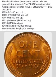 When a penny isn't just a cent Rare Coins Worth Money, Valuable Coins, Simple Life Hacks, Useful Life Hacks, Penny Values, 1000 Lifehacks, Coin Worth, Coin Values, Old Money
