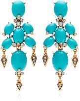 Oscar de la Renta-oscar de la renta cabochon stone and crystal earrings in turquoise