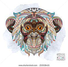 рисунок татуировки обезьяна - Поиск в Google
