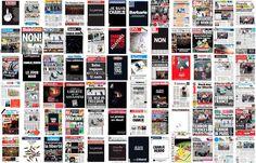 Les Unes de la presse ce matin. #TousCharlie #CharlieHebdo