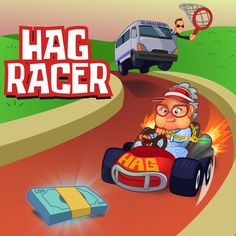 Granny Racer - App game illustration by Bonographic