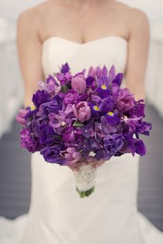 923 best purple lavender wedding flowers images on pinterest gorgeous purple wedding bouquet junglespirit Images