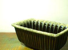 Vintage Hull Pottery Drip Glaze Avocado Green &  by BeppieandEido