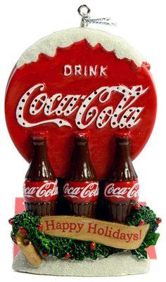 Amazon.com - Kurt Adler Lighted Coca-Cola Bottle Sign Ornament Happy Holidays - Decorative Hanging Ornaments Coca Cola Bear, Pepsi Cola, Coca Cola Merchandise, Coca Cola Christmas, Retro Christmas, Christmas Ornaments, Cocoa Cola, Always Coca Cola, Necklaces