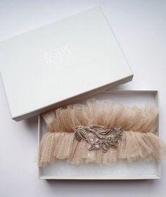 10 Sweet Ideas for Brides-to-be   florrie mitton bridal garter   weddingsonline