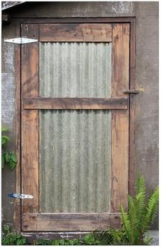 corrugated metal door by Jo Kararum